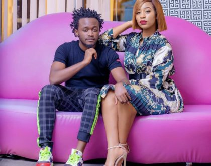 """Huyu hawezi toshea kwa bedsitter!"" Bahati warns young men lusting after his wife"