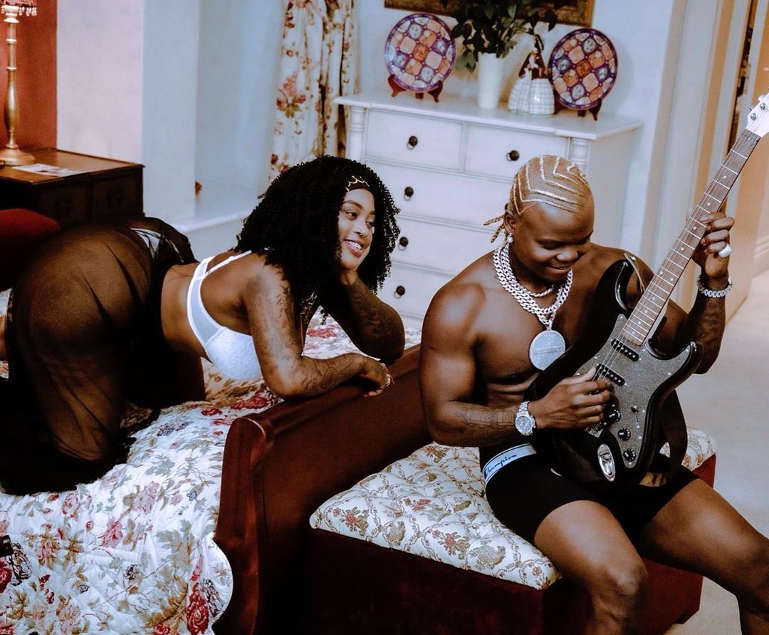 Drama! Harmonize allegedly caught pants down cheating on his wife with video vixen