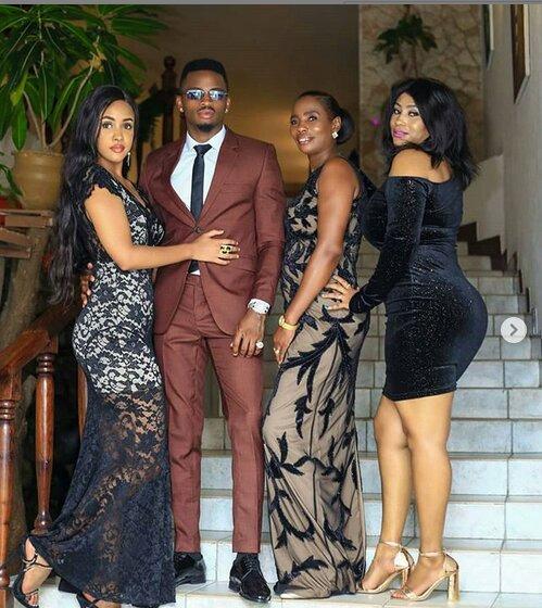 diamond, tanasha and his mother and sister