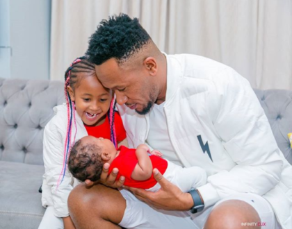 DJ Mo and son excite many after stepping out in twinning outfits (Photos)