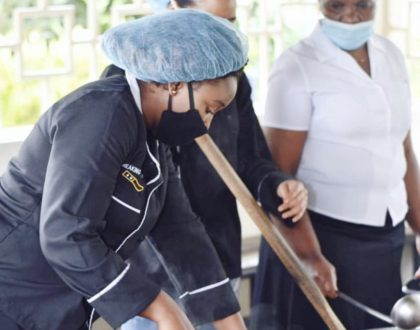 Betty Kyallo's heartwarming gesture for healthcare workers at Mbagathi Hospital (Photos)