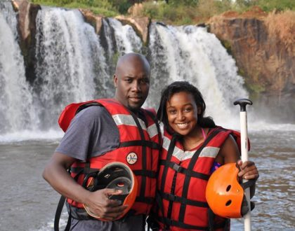 Never seen before photo of Betty Kyallo whining her waist and hips on Dennis Okari
