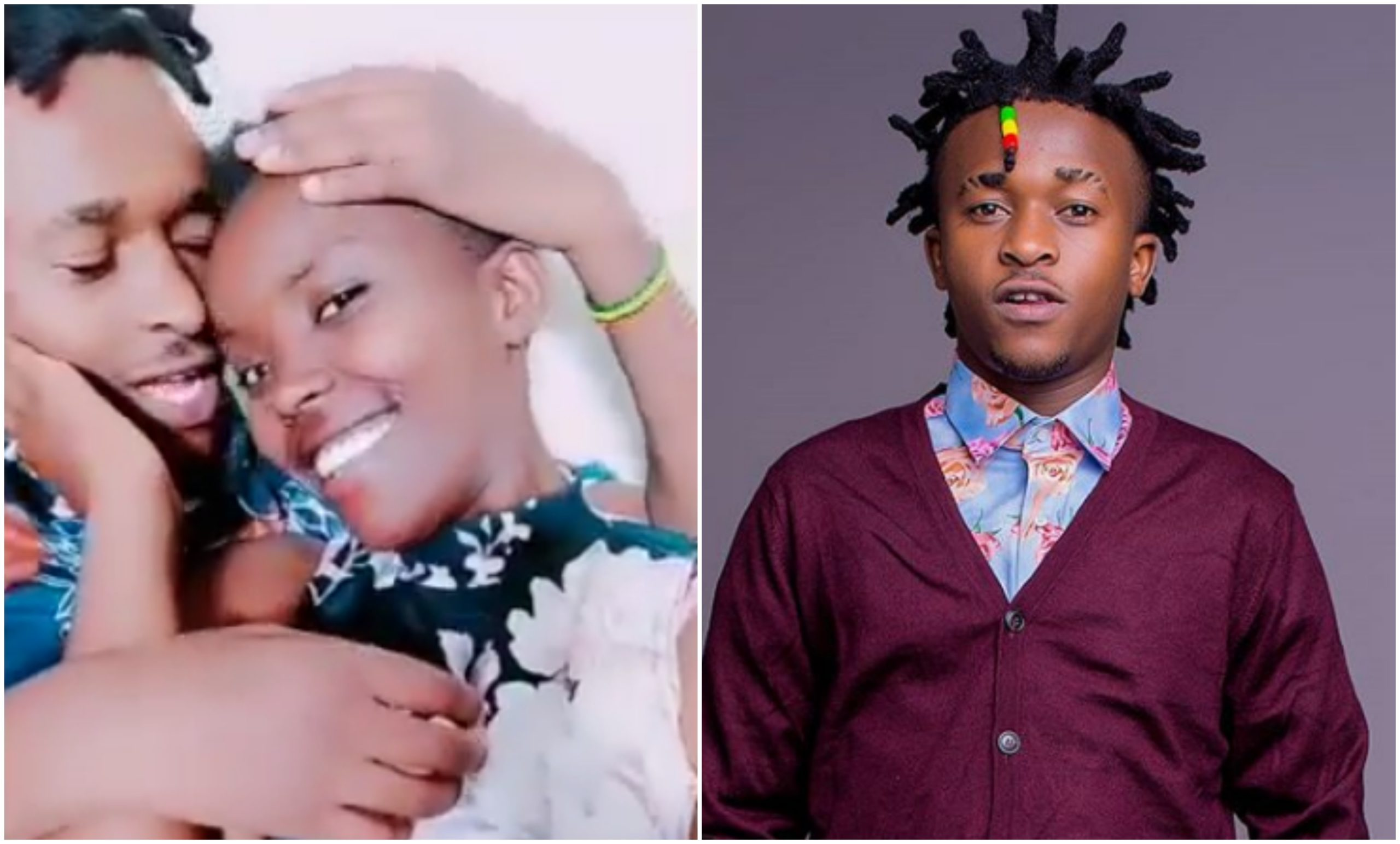 """Dem wako ni mhandsome,"" fans mock Miracle Baby after getting cozy with lady (Video)"