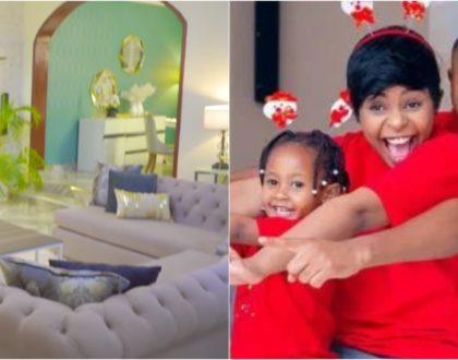 Size 8 and DJ Mo´s palatial home make over that has become the talk of town (Video)