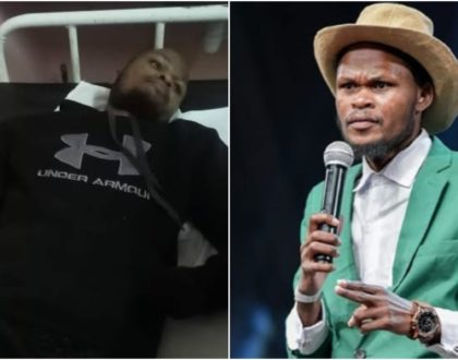 Update on comedian Othuol´s health status a day after being hospitalized (Photos)
