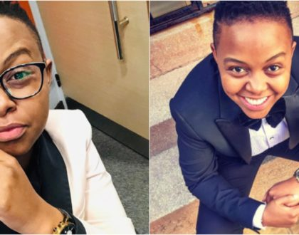 12 occasions actress Makena Njeri proved her unique fashion sense in men´s office suits
