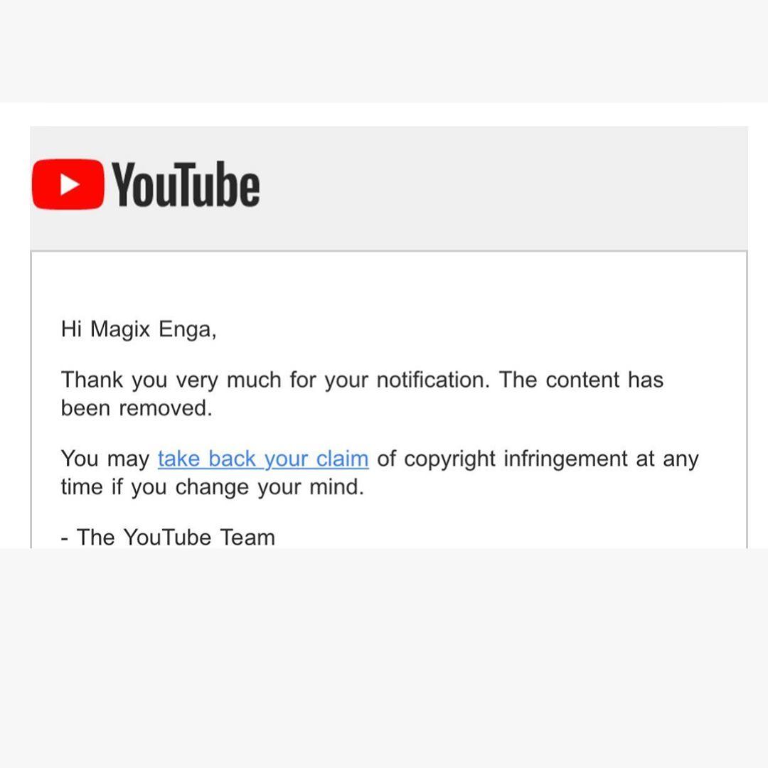 Magix Enga copyright complaint against Tekashi