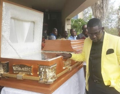 The untold drama that went down right before Ayieya's burial!