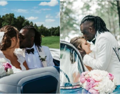 Congratulations! Matata rapper Freddy Milanya weds mzungu girlfriend in private affair (Photos)