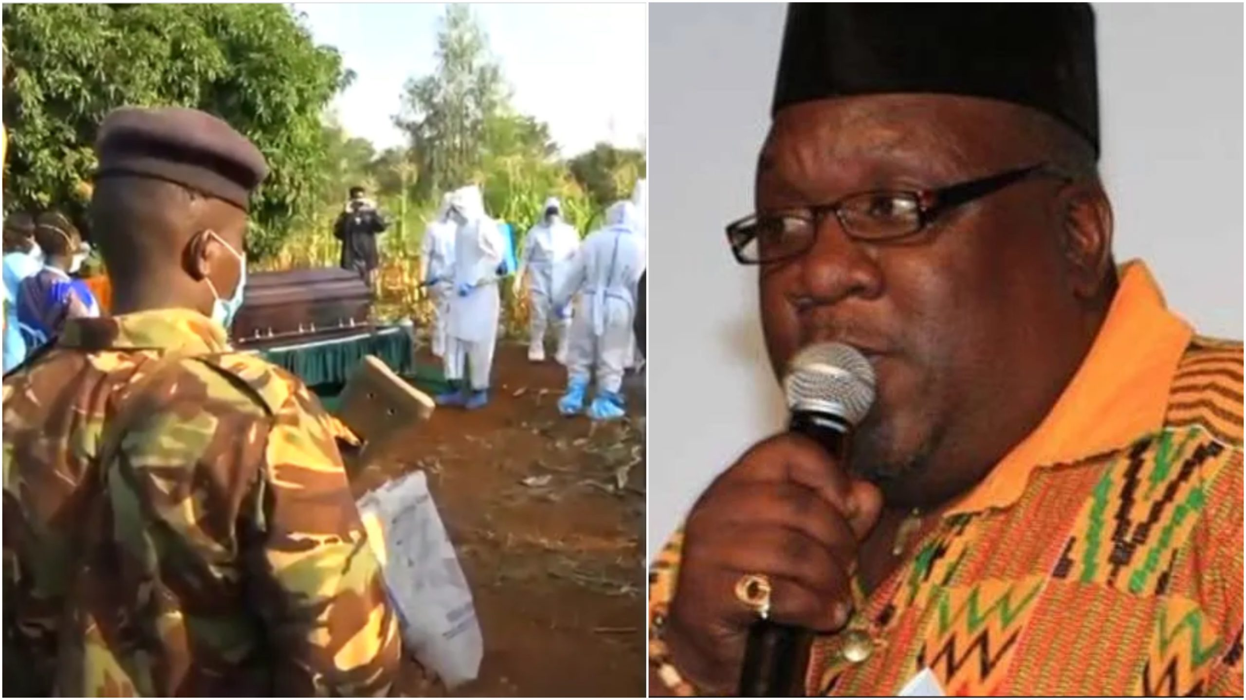 Family and friends pay last respects to Papa Shirandula under strict Covid-19 measures (Video)
