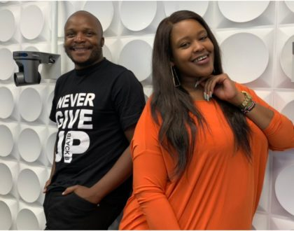Wild reactions after Kamene Goro and Jalang'o are spotted working from home together following Kiss 100's new directive (Photo)