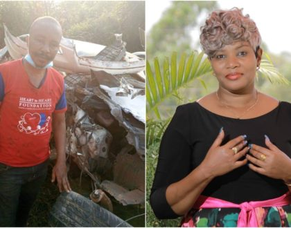 Loise Kim's heartfelt message to gospel hit-maker Dennis Mutara after grisly road accident (Photos)