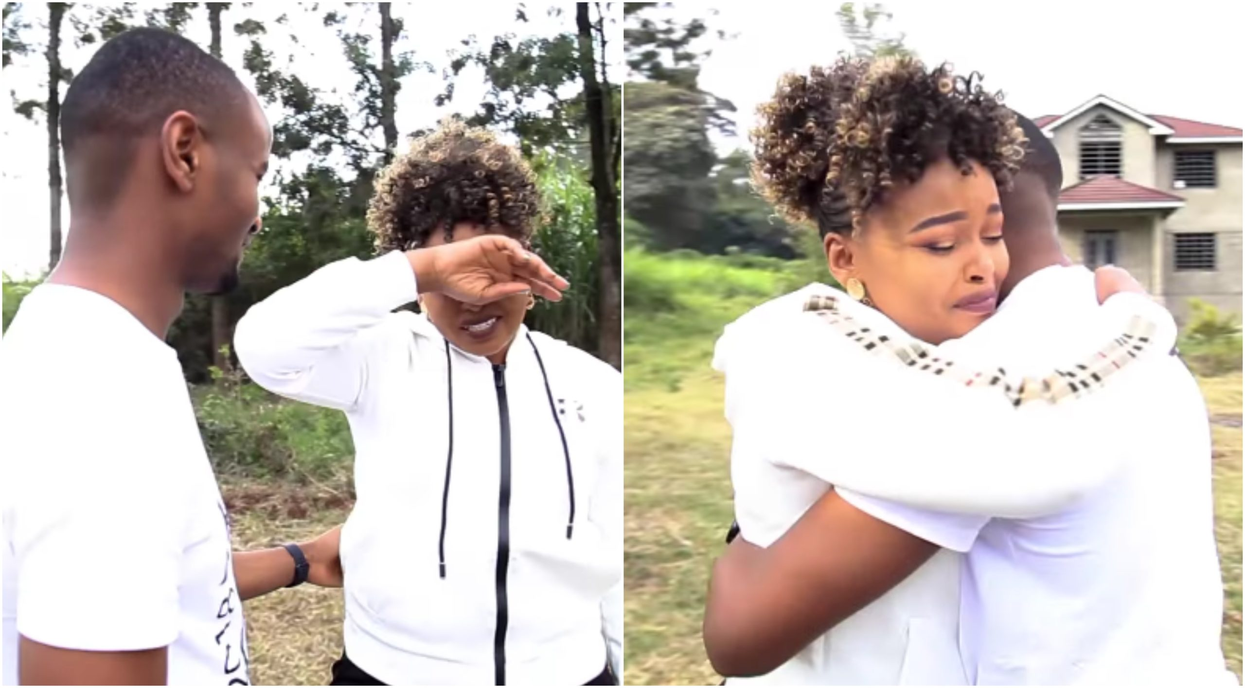 Milly WaJesus cries like a baby after husband's big surprise on her special day (Video)