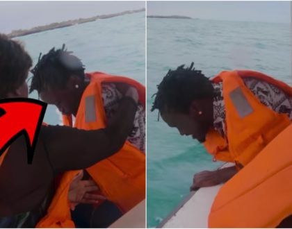 Drama as Bahati throws up in the deep of Indian Ocean, vacation turns sour (Video)
