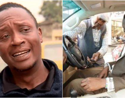 Uhuru's lookalike speaks after photos of him in KSh15M luxury car went viral (Video)