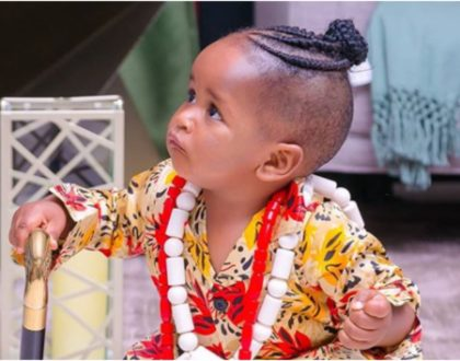 Your Majesty! Striking photos of Bahati and Diana Marua's son as he turns a year old sets the Internet ablaze