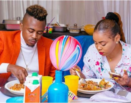 Weezdom and his hot girlfriend steal the show at Diana and Bahati's son Majesty's 1st birthday event (Video)
