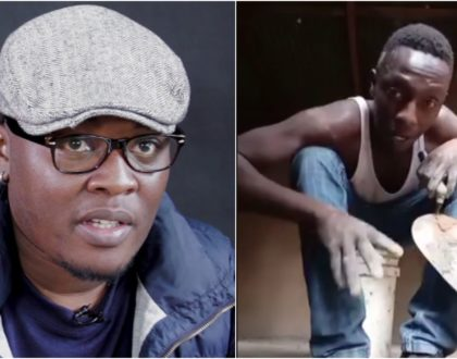 Mjengo laborer's melodic voice lands him major recording deal with veteran producer Tim Rimbui (Video)
