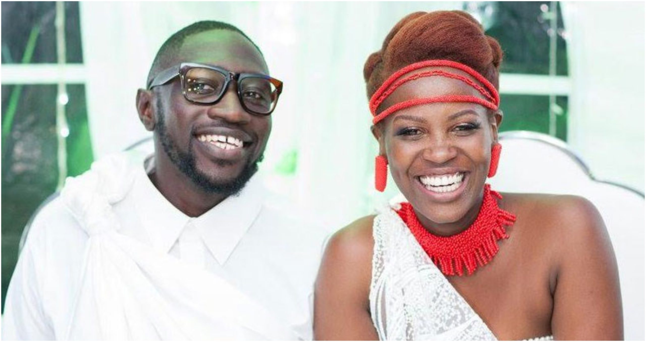 Revealed! How Sauti Sol's Polycarp and his wife met in a case of mistaken identity (Video)