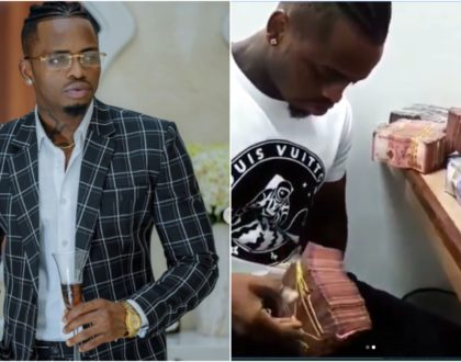 """Ukishiba funika tumbo,"" Kenyans' savage reactions to Diamond's viral video flaunting bundles of cash"