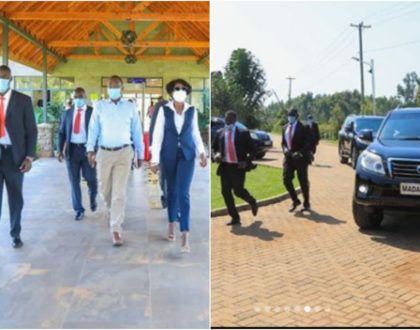Akothee's grand entrance to Government meeting day after she was trolled for her micro miniskirt (Photos)
