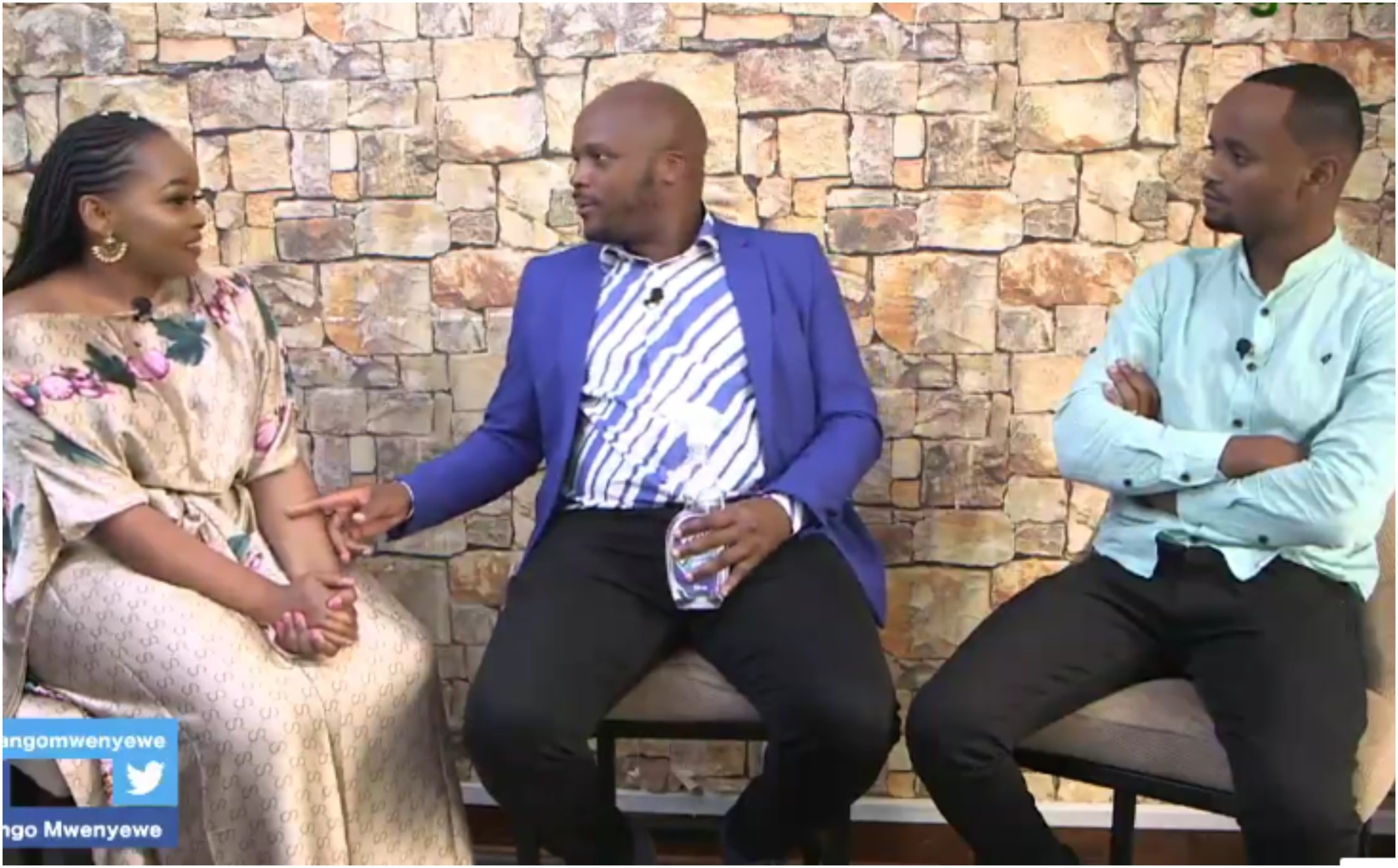 Kabi WaJesus nearly walks out of Live interview after Jalango's intrusive question to wife (Video)