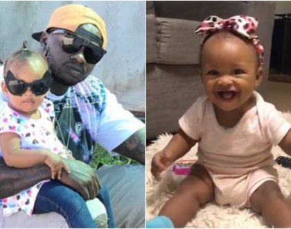 Cute video of Khaligraph's little daughter innocently jamming to his new song melts fans' hearts