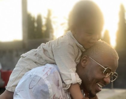 Daddy duties! New photos of Alikiba bonding with son light up the internet