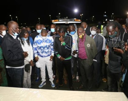 Dennis Oliech and family finally receive their late brother's body (Photos)