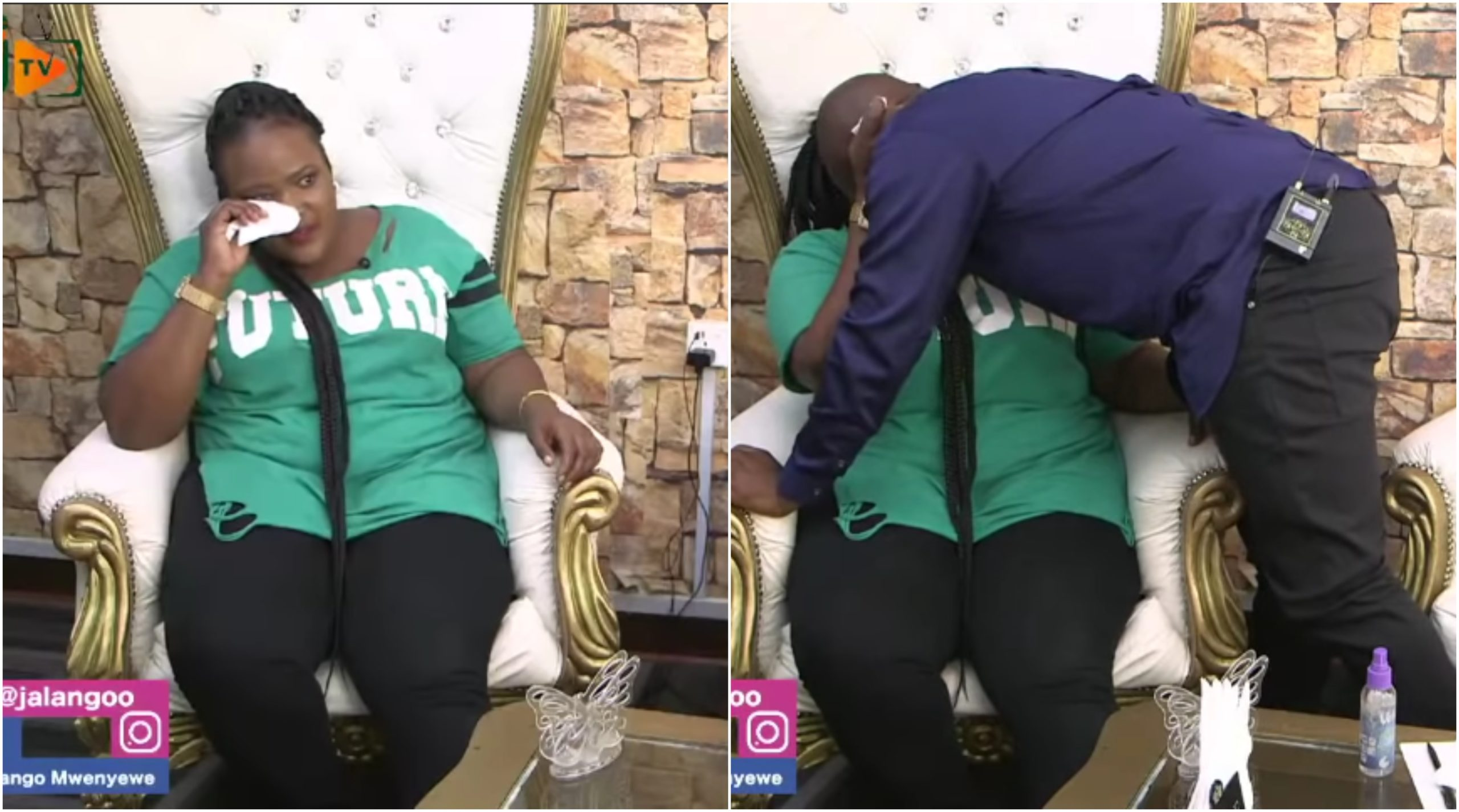 Jalang'o breaks to tears after Auntie Boss actress Silprosa opened up on being raped aged 9 (Video)