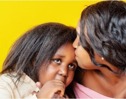 Betty Kyallo goes down on her knees for daughter Ivanna (Photo)