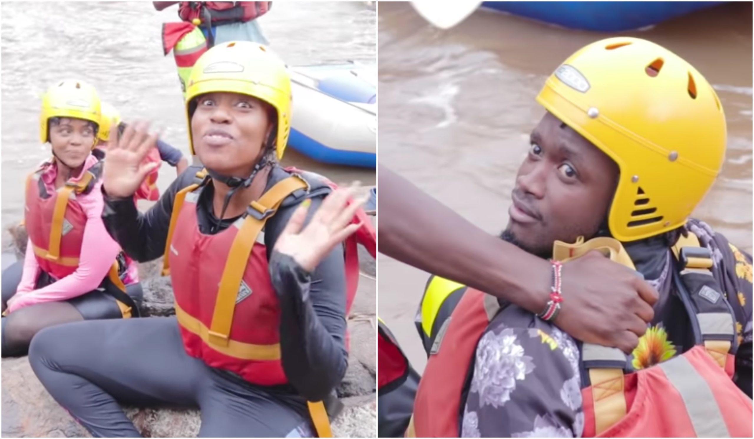 Diana Marua urinates on herself after near-death waterfall challenge with Bahati (Video)