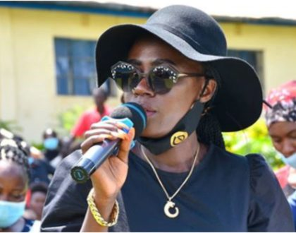 Akothee rattles crowd with powerful speech during late sister-in-law's funeral (Video)