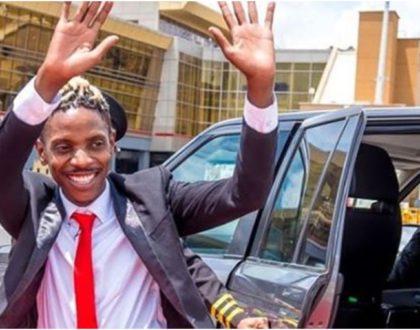 Eric Omondi flashes opulence at JKIA ahead of grand performance in Tanzania