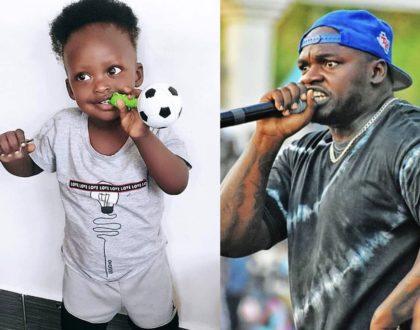 Like father like son: Khaligraph Jones baby mama over the moon as son turns 3 years! (Photos)