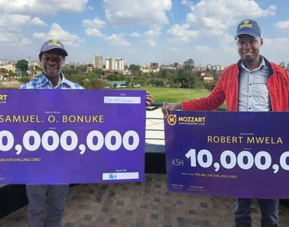 Another pair of gamers strikes it lucky with millions on Kenya's easiest jackpot: The Mozzart Daily Jackpot!