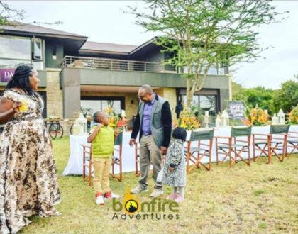 Balling! Sarah Kabu surprises husband Simon with multi-million mansion on his birthday (Video)
