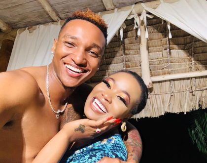 """""""Anaona swimming pool"""" Fans troll Vera Sidika after sharing video showing husband her privates"""
