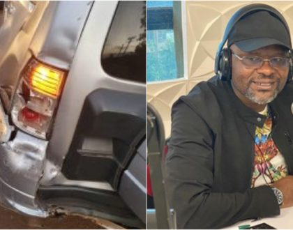 Radio Jambo's Jacob 'Ghost' Mulee involved in horrific morning accident (Photos)