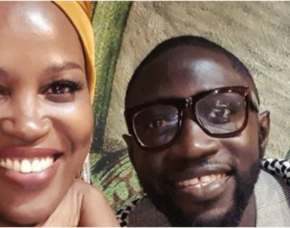 Cute photos of Sauti Sol's Polycarp spending some good time with newborn lights up the Internet
