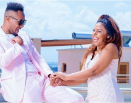 DJ Mo's unfiltered reaction after Size 8 warns him against impregnating her a 4th time (Video)