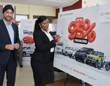 Businesses and farmers to gain as Co-op Bank seals a landmark 95% vehicle financing deal with Toyota Kenya