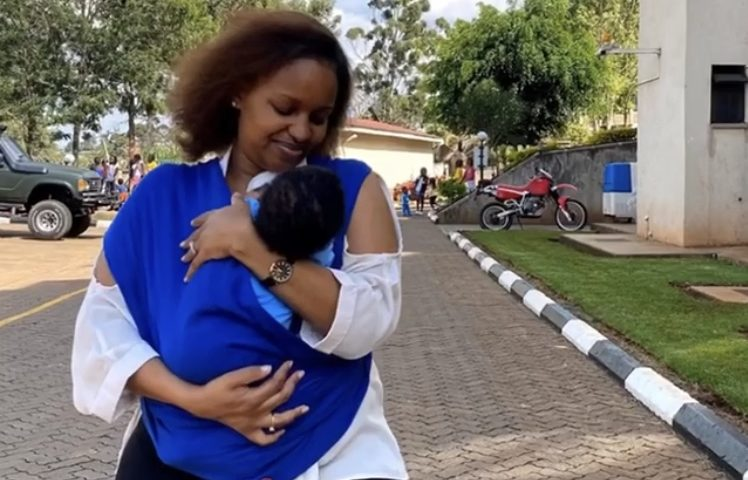 Adorable! Grace Msalame steps out with month old son (Photos)