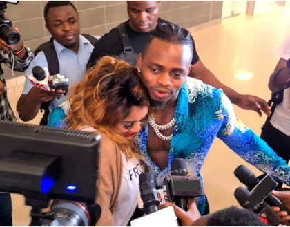Emotional moments as Diamond Platnumz welcomes Zari and their kids into Tanzania (Video)