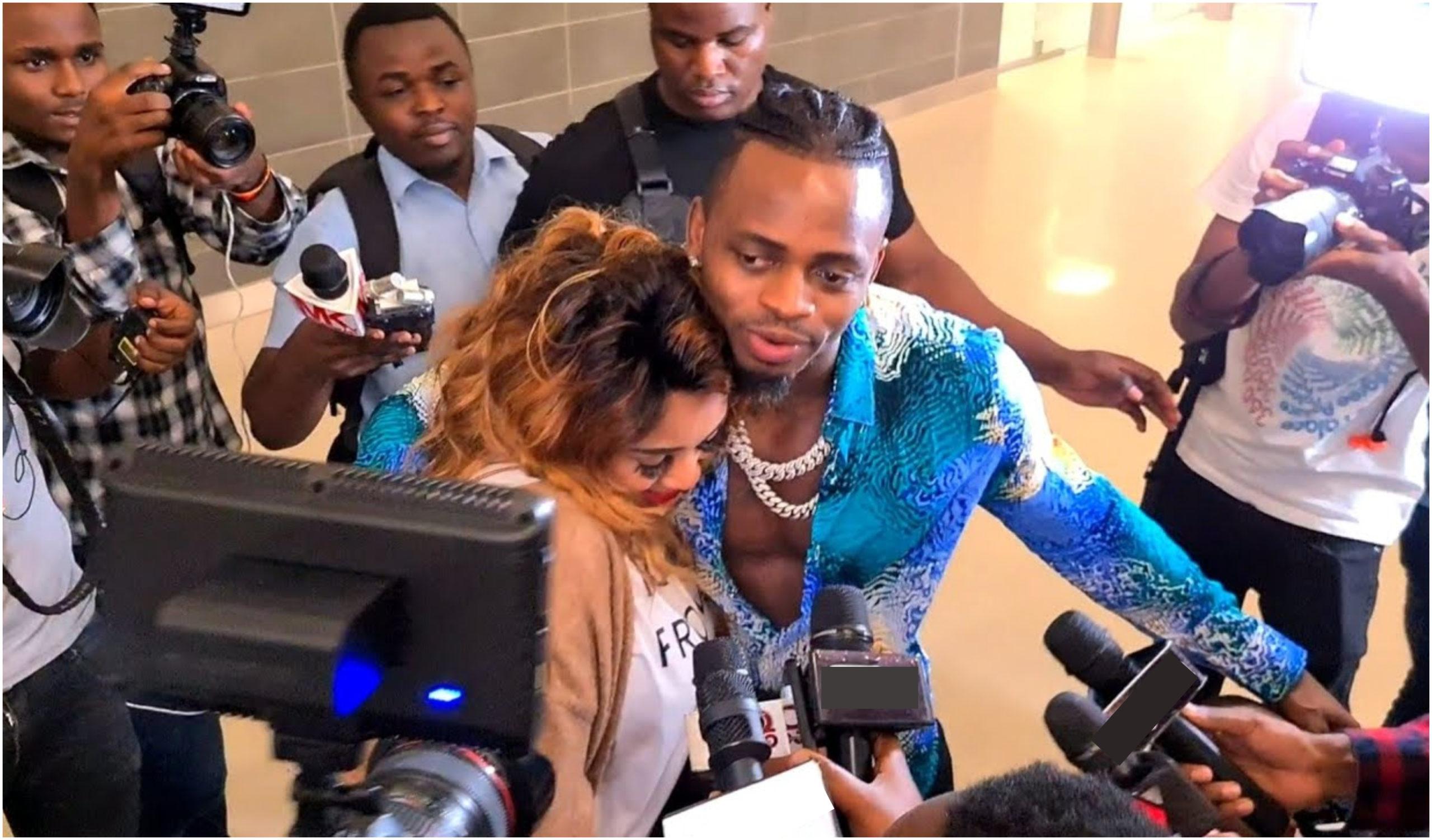 Emotional moments as Diamond Platnumz welcomes Zari and their kids into Tanzania (Video)