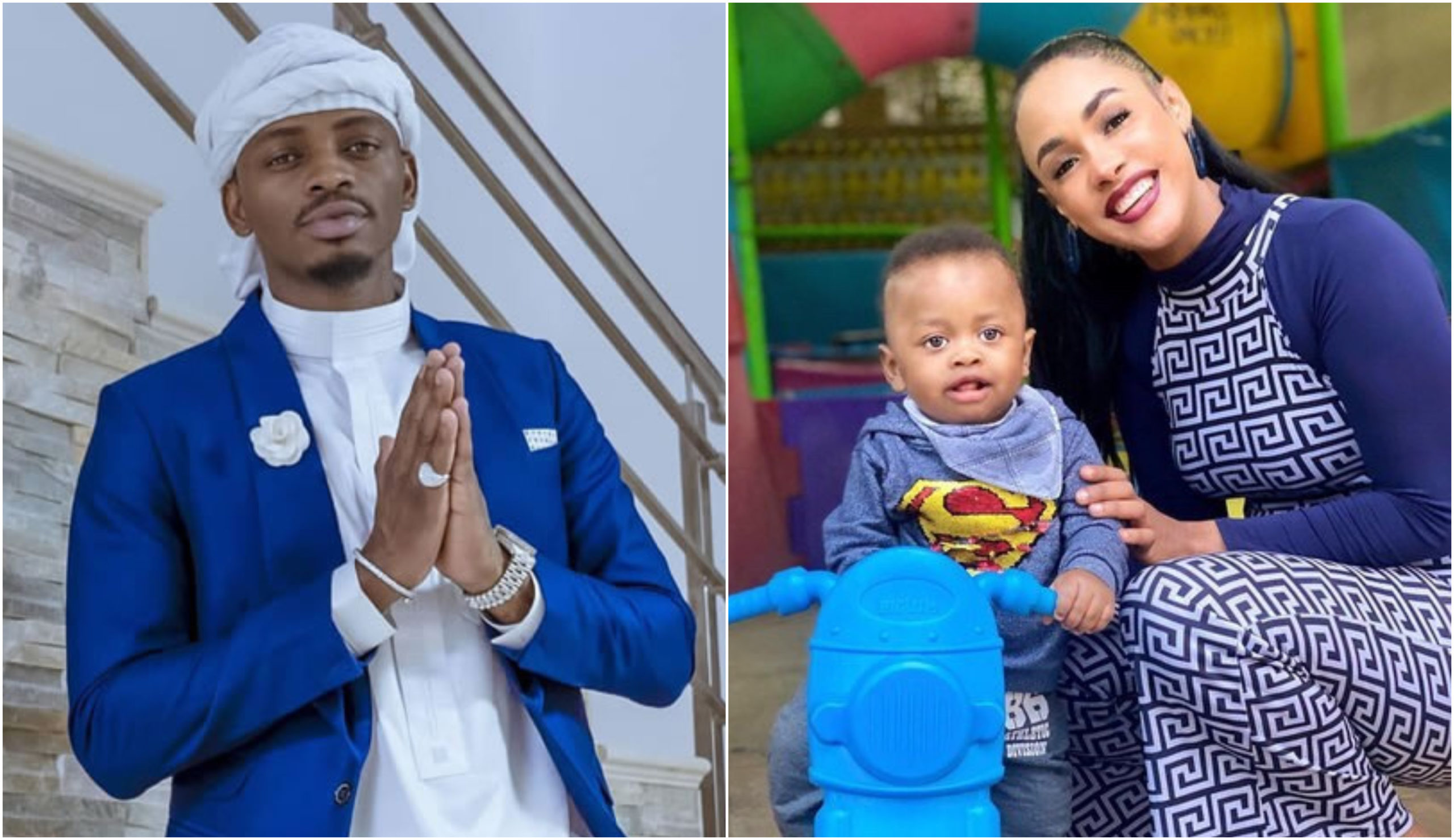 New photos of Naseeb Junior that have caught the attention of Diamond Platnumz
