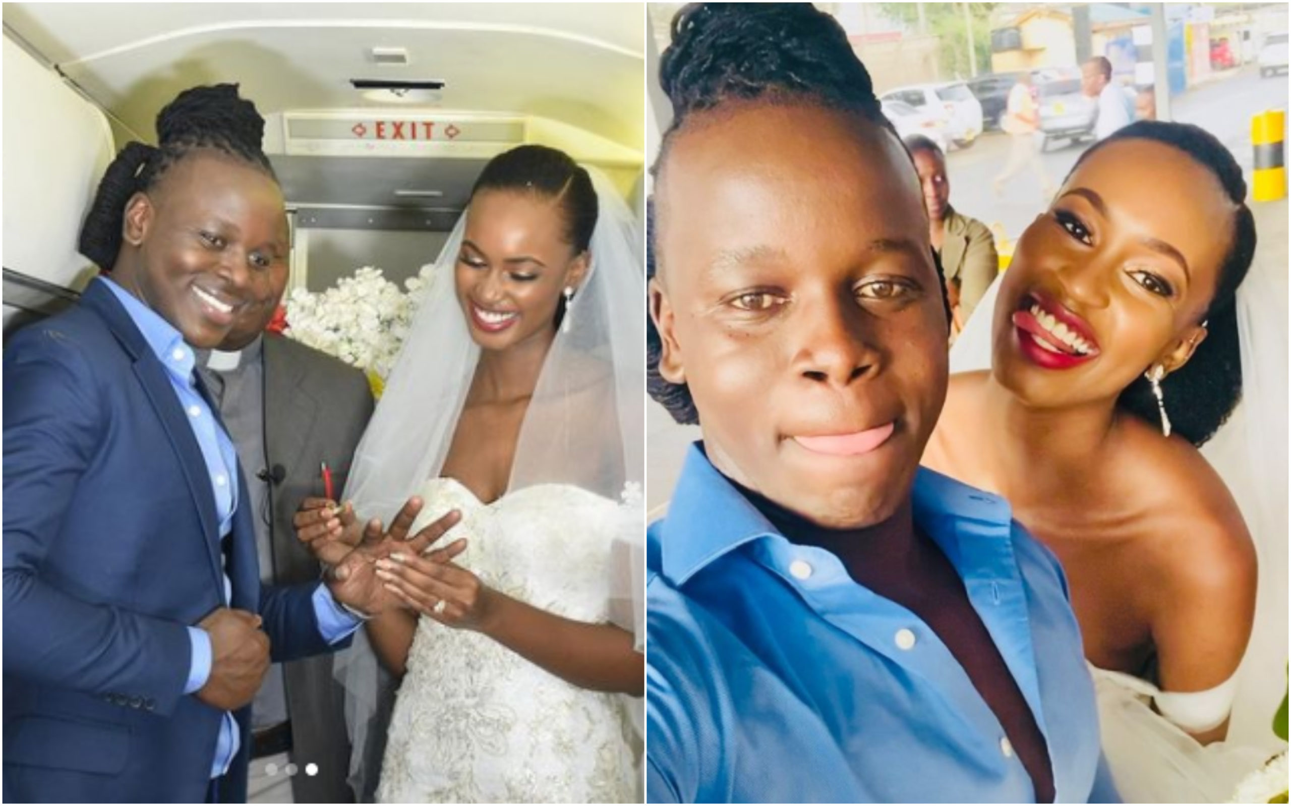 """Why I chose to wed aboard a flying plane,"" Kenyan man, once a mitumba hawker finally speaks up"