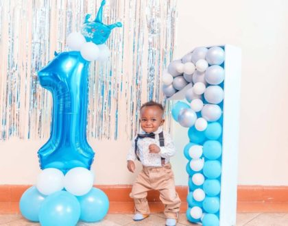 Size 8 throws a 'low key' birthday party to celebrate son's 1st birthday (Videos)