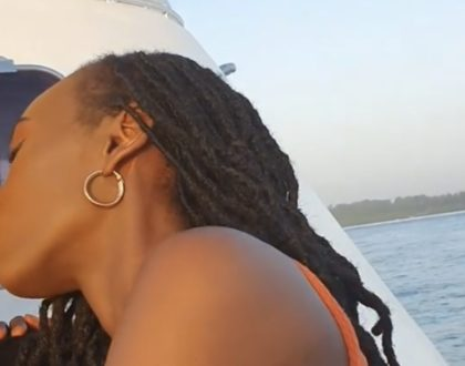 Ameangukia: Meet the hot lady caught on camera locking lips with Eric Omondi, a true African beauty! (Photos)