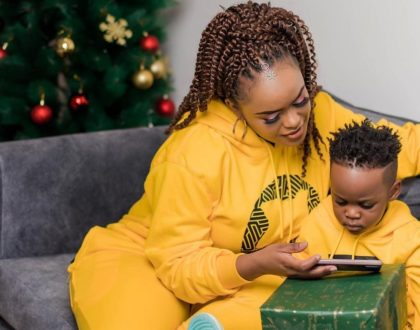 Could this 2 year old handsome boy be Avril Nyambura's son? (Photos)